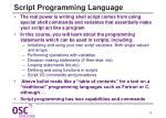 script programming language