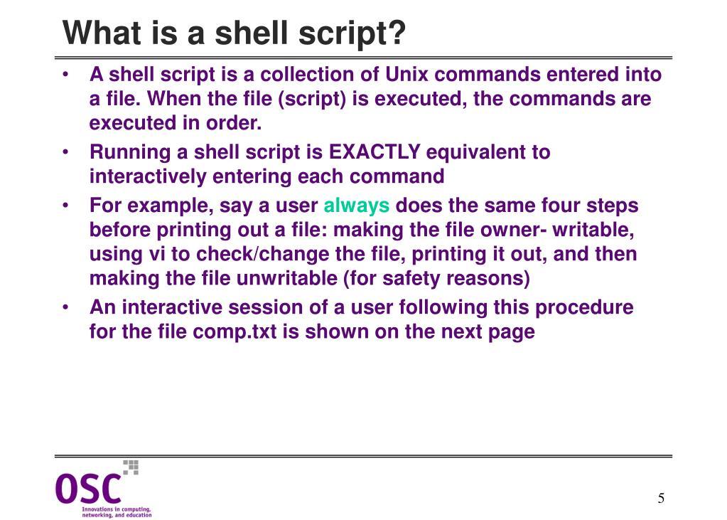 PPT - Korn Shell Script Writing & HPC PowerPoint