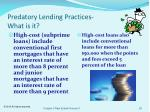 predatory lending practices what is it