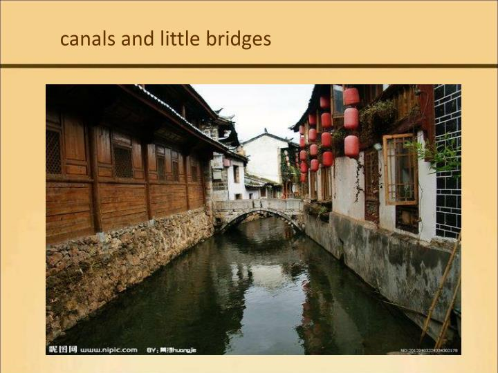 canals and little bridges