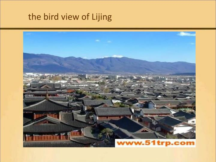 the bird view of Lijing
