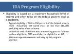 ida program eligibility