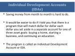 individual development accounts idas