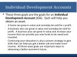 individual development accounts