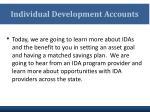 individual development accounts1