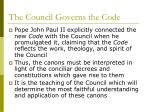 the council governs the code1