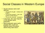 social classes in western europe