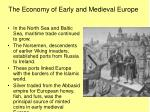 the economy of early and medieval europe2