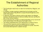the establishment of regional authorities
