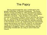the papcy