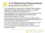 4 10 measuring requirements rating scheme on scale from 1 to 5