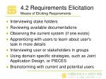 4 2 requirements elicitation means of eliciting requirements