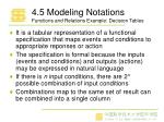 4 5 modeling notations functions and relations example decision tables