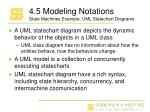 4 5 modeling notations state machines example uml statechart diagrams