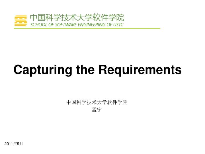 capturing the requirements n.