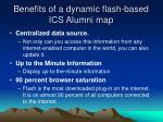 benefits of a dynamic flash based ics alumni map