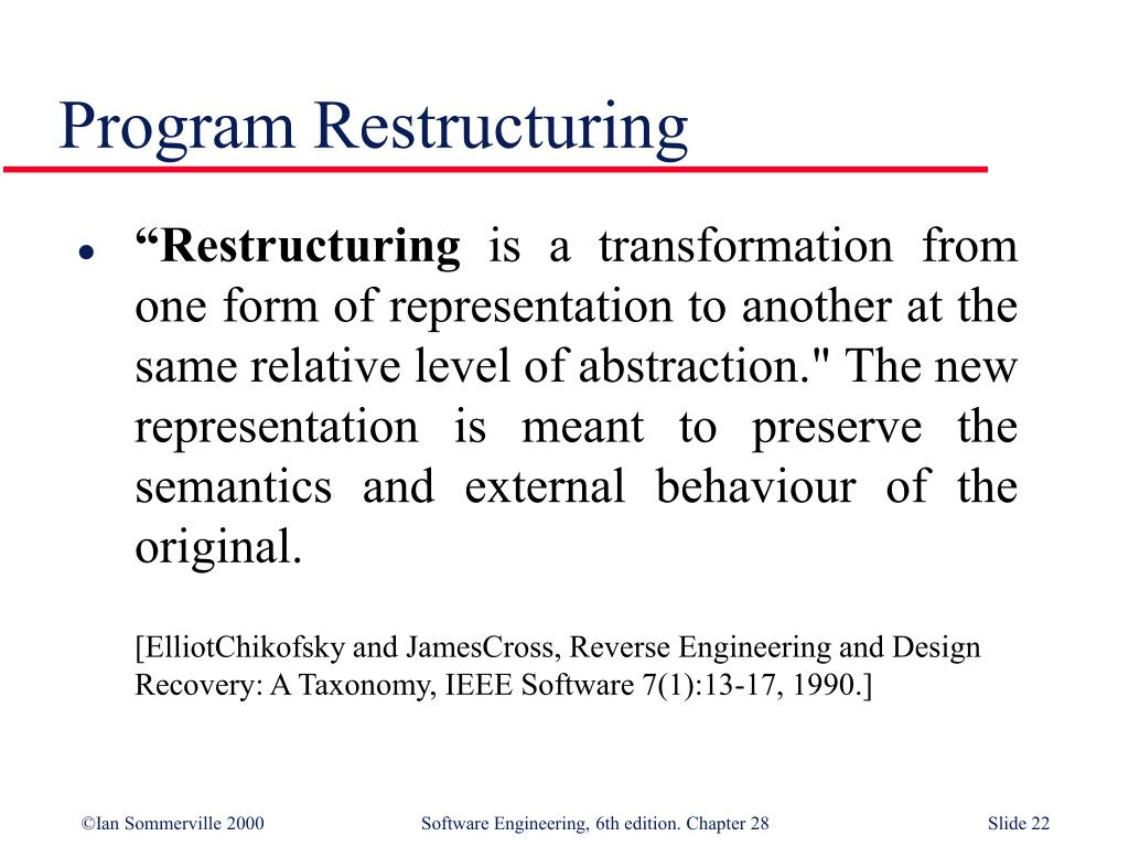 Ppt Co7206 System Reengineering 4 2 Software Reengineering Most Slides Are Slides By Ian Sommerville Powerpoint Presentation Id 6842388