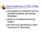great awakening 1730s 1740s