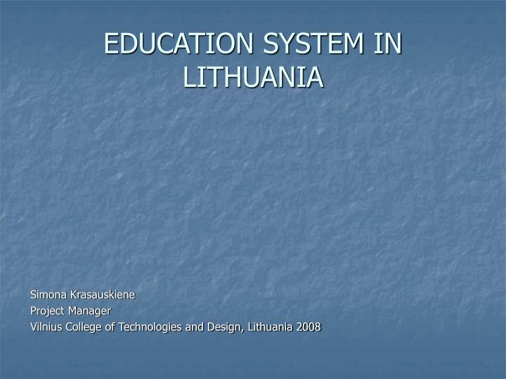 education system in lithuania n.