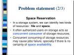 problem statement 2 3