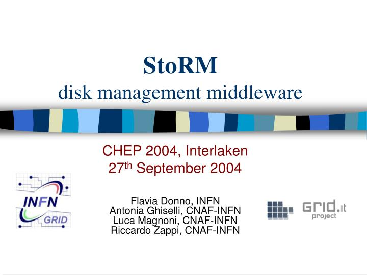 storm disk management middleware n.
