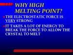 why high melting point