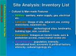 site analysis inventory list2