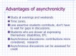 advantages of asynchronicity