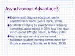 asynchronous advantage