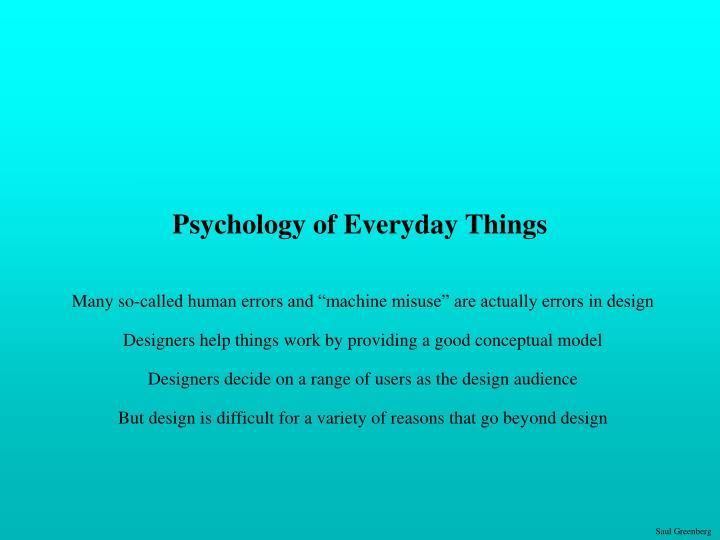 psychology of everyday things n.