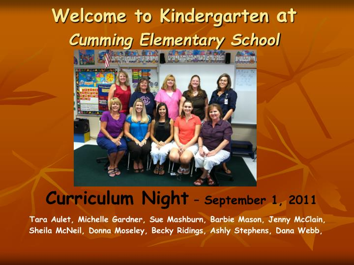 curriculum night september 1 2011