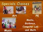 specials classes