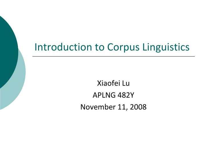 introduction to corpus linguistics n.