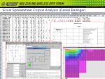 excel spreadsheet corpus analysis daniel ballinger