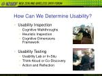 how can we determine usability