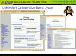lightweight collaborative tools ukase