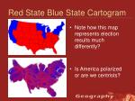 red state blue state cartogram