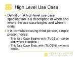 high level use case