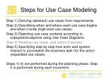 steps for use case modeling