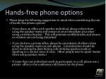 hands free phone options1