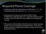 required phone coverage