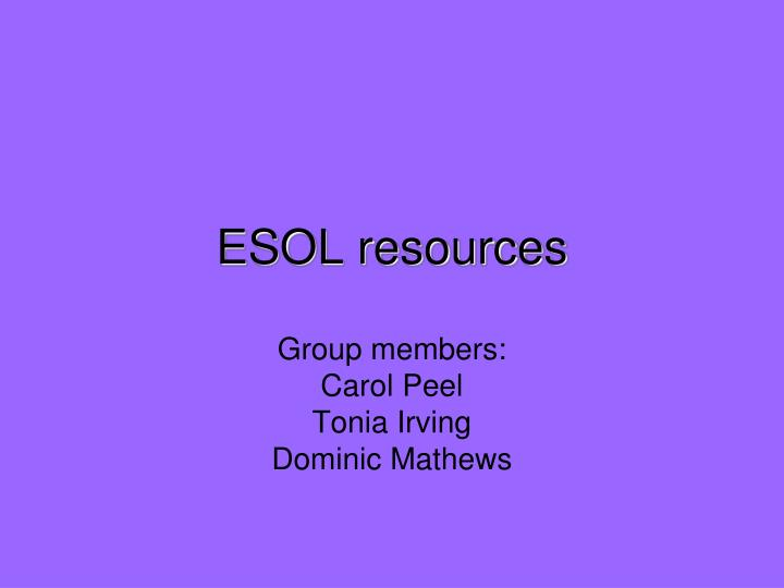 esol resources n.