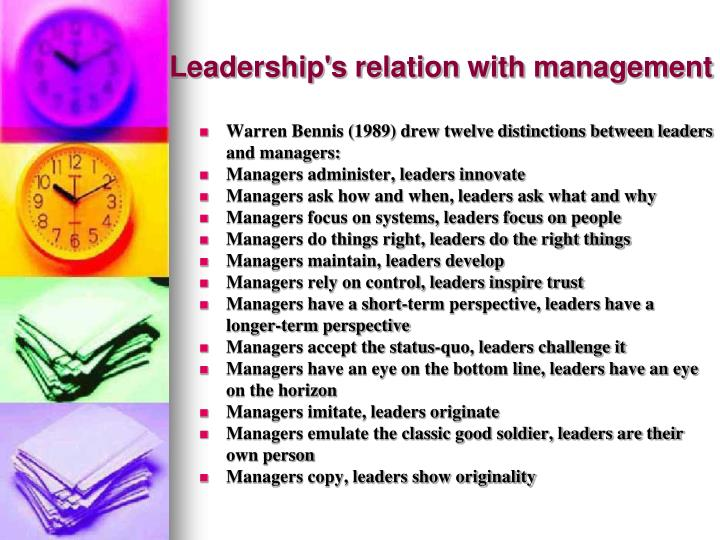 Leadership's relation with management