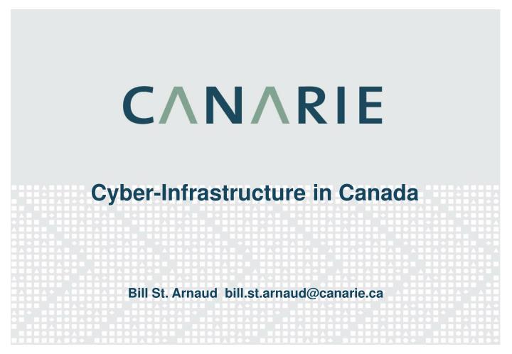 cyber infrastructure in canada n.