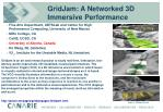 gridjam a networked 3d immersive performance