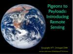 pigeons to payloads introducing remote sensing