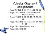 calculus chapter 4 assignments