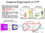 compton experiment at atf