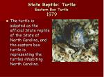 state reptile turtle eastern box turtle 1979