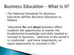 business education what is it